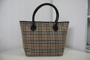 Vintage-BURBERRY-039-S-Nova-Check-Handbag-Made-In-England