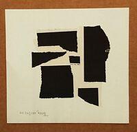 ARTURO LUZ (b.1926) ABSTRACT HANDSIGNED ORIGINAL ART PRINT Filipino Philippine