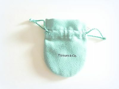 TIFFANY & CO. SUEDE POUCH BLUE STRING POUCH ESTATE RETIRED TIFFANY USA TCO