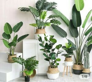 Artificial-9-Leaves-Simulating-Potted-Plant-Home-Furnishing