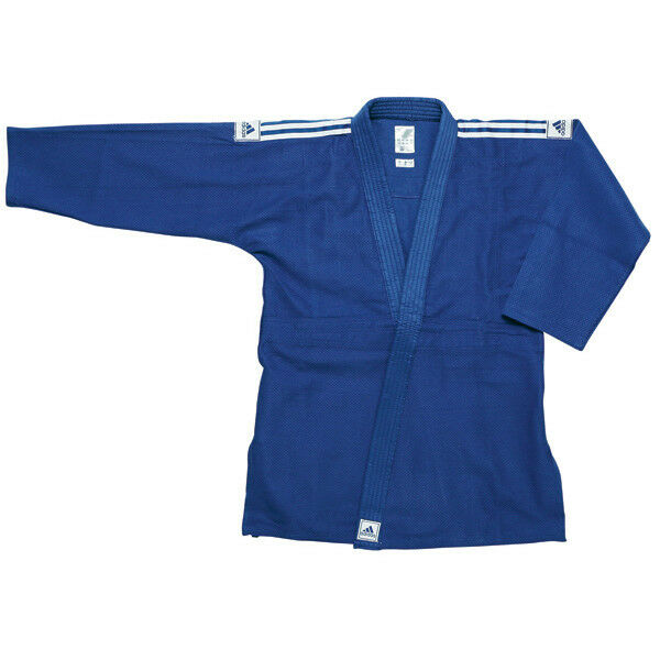 Jiu Jitsu Adidas Training Blau   Weiß Stripes Uniform