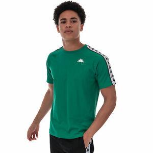 Para-hombre-Kappa-Coen-Banda-Camiseta-Cuello-Redondo-Estriado