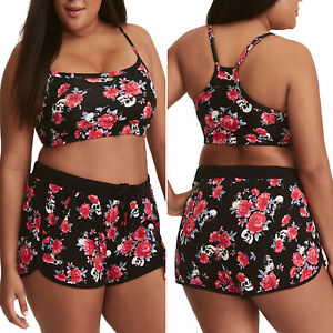 0ab1034b1b49 Women Plus Size Tankini Sets With Boy Shorts Beach Swimming Costumes ...