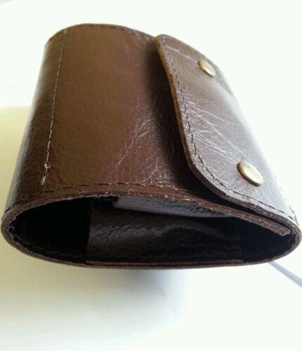 con borchie. .303 10 ROUND Bullet Wallet Marrone Vera Pelle