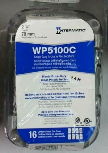 LOT OF 6 INTERMATIC WP5100C Weatherproof Extra-Duty While in Use Cover 1-GANG