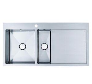 Astracast Urbane Sink 1.5 Bowl Kitchen Sink Stainless Steel Right ...
