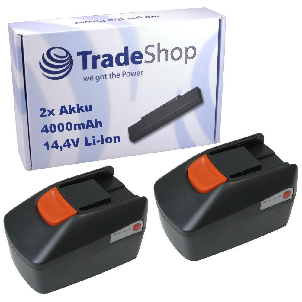 2x Trade-Shop AKKU 14,4V 4000mAh Li-Ion ersetzt Fein B14A.164.01, 92604164020