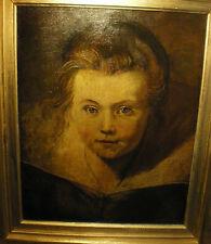 Tableau Ancien Huile sur toile XVIII XIXe portrait d'après Peter Paul Rubens
