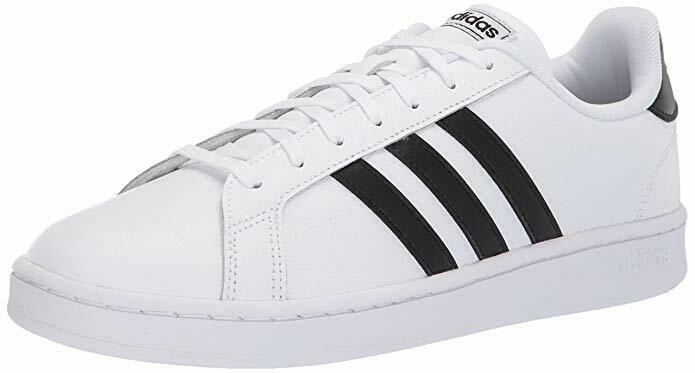 Adidas Men's Grand Court shoes F36392 White   Black   White 100% Original New