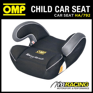 sale ha 792 omp racing child booster car seat black group 2 and 3 15 to 36kgs ebay. Black Bedroom Furniture Sets. Home Design Ideas