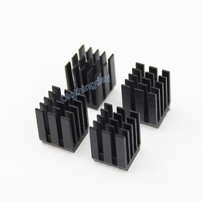 Black 12pcs 9mm 9x9x12mm adhesive Aluminum Heat Sink For Memory Chip IC