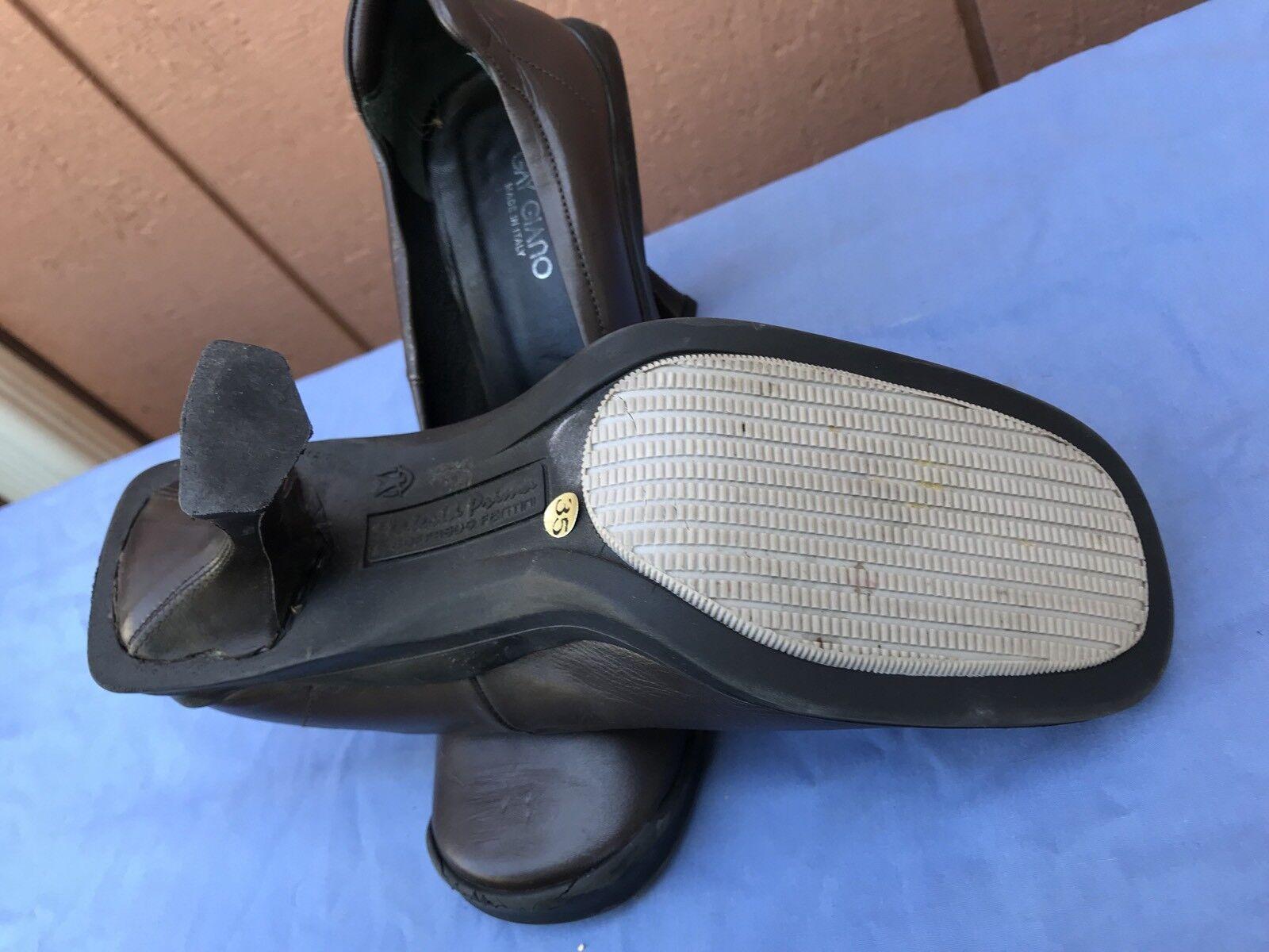 GAY GIANO 35 35 35 US 5 Braun Leder Fashion Pumps Heels 190 A4 74d765