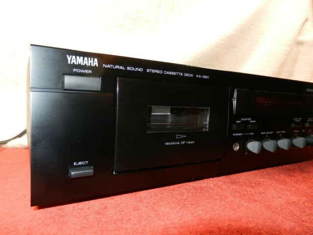 Yamaha KX-380 Dolby B&C HxPro Cassette Deck - Fully Serviced - Works Great!