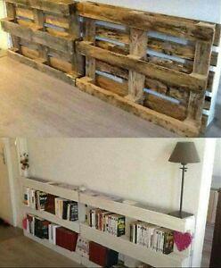 Libreria realizzata con bancali modulo 120x80 arredamento - Arredamento esterno bancali ...