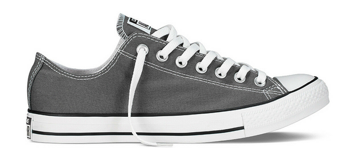 Converse Ox All Star Ox Converse Mens Charcoal Canvas Trainer e88379