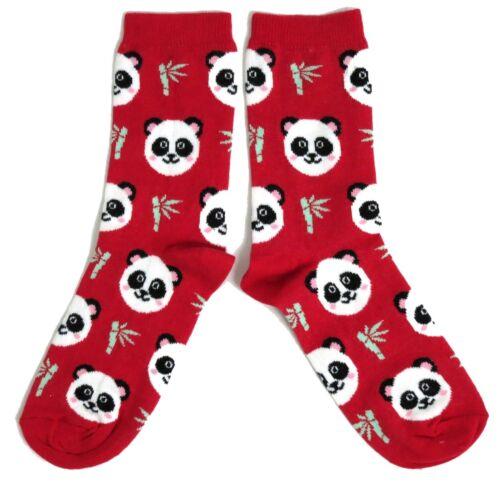 LADIES CHINESE GIANT PANDA /& BAMBOO RED SOCKS UK 4-8 EUR 37-42 USA 6-10