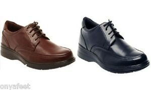 MENS HUSH PUPPIES TORPEDO BLACK TEAK LEATHER EXTRA WIDE LACE UP WORK MEN/'S SHOES