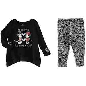 27a82c5c338a6 Disney Infant Girls Be Happy Mickey & Minnie Mouse Baby Outfit Shirt ...
