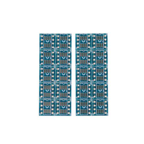 20pcs SOP8 SO8 SOIC8 TSSOP8 MSOP8 to DIP8 Adapter PCB DIY Conveter Board BHQ
