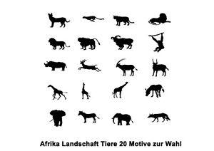 Wandtattoo afrika tier 20 motive wandfolie waf20 ebay for Wandfolie schwarz