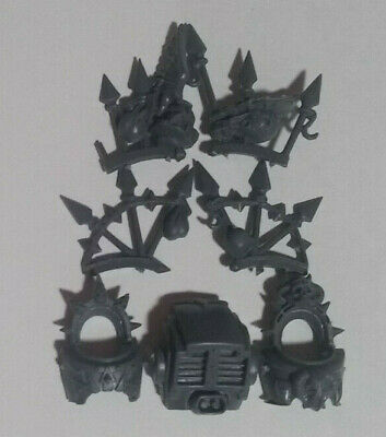 Warhammer 40k Chaos Space Marine Bike Bits:Spike Engraved Backpack
