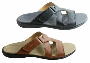Brand-New-Scholl-Orthaheel-Pambula-Womens-Leather-Supportive-Slides-Sandals