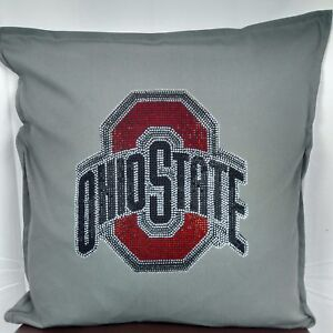 Image Is Loading Ohio State Rhinestone Cushion Cover Throw Pillow Case