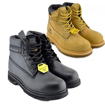 MEN SAFETY HIKER SHOES BOOTS WORK STEEL TOE CAP HIKER ANKLE SIZE 7-13 UK NEW