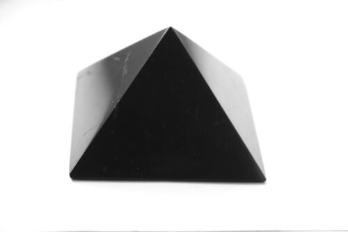 Shungite Pyramid and Sphere Protection Set for EMF Protection and Chakra Balance