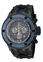 New Mens Invicta 16828 Subaqua GMT Chronograph Black Strap Gunmetal Watch