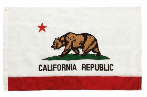 State of California 3x5 3/'x5/' EMBROIDERED 2 double sided Flag USA SHIPPER