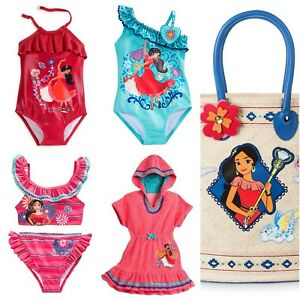 8a7320d4f46ac Disney Store Elena of Avalor Deluxe Swimsuit Cover Up Ruffles Swim ...
