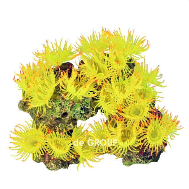 "6 "" New Beautiful Coral Decor Aquarium Ornament Fish Tank Decoration - Yellow"