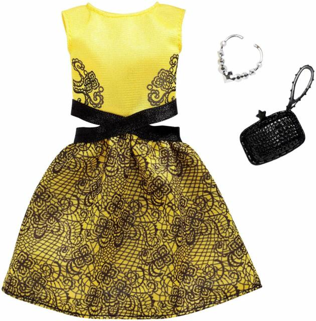 Barbie Dress Fashion Pack Yellow & Black FXJ08 New from Japan