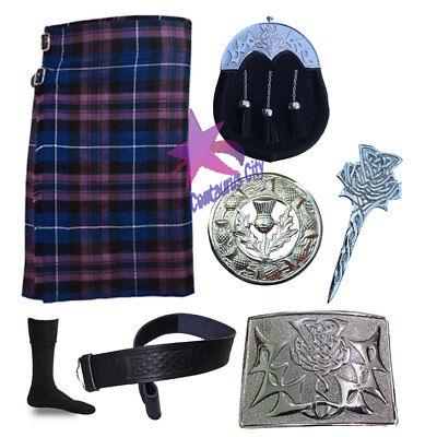 Cc Schottisch Pride Von Schottland 8 Yard Kilt 16 Oz Distel Hinterzwiesel Hochwertige Materialien