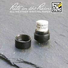20 x *NEW* GEOLoggers NANO Geocaching Log Sheet / Book Rite in the Rain White