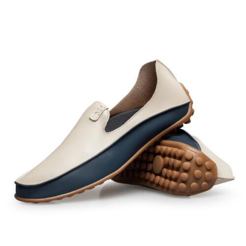 Homme Mocassins De Conduite Décontracté Chaussures Bateau Chaussures En Cuir Léger à Enfiler Mocassins