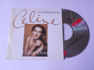 Celine-Dion-s-039-il-suffisait-d-039-aimer-cd-single