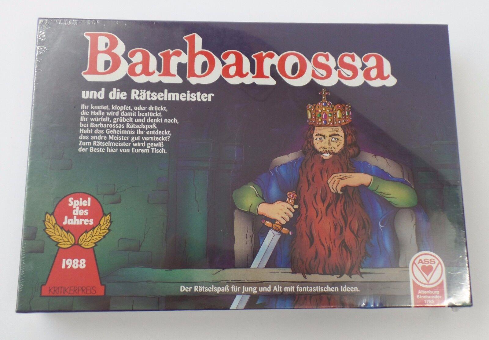 ASS - Barbarossa und die Rätselmeister Spiel des Jahres 1988 - NEU NEW in Folie