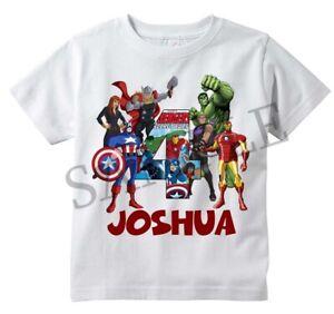 Spiderman Comic Superhero Custom T-shirt PERSONALIZE Birthday Choose NAME//AGE
