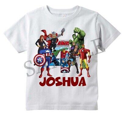CUSTOM Avengers Number  baseball T shirt for Boys