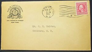Carr-amp-Company-Mercantile-Clearing-House-US-Adv-Cover-Ny-1916-2c-USA-Letter