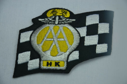 HK AA AUTOMOBILE ASSOCIATION 8cm Embroidered Sew Iron On Cloth Patch Badge