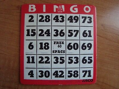 Lot Of 25 Antique//Vintage Red Cardboard BINGO Hall Cards Free Space HEAVY STOCK