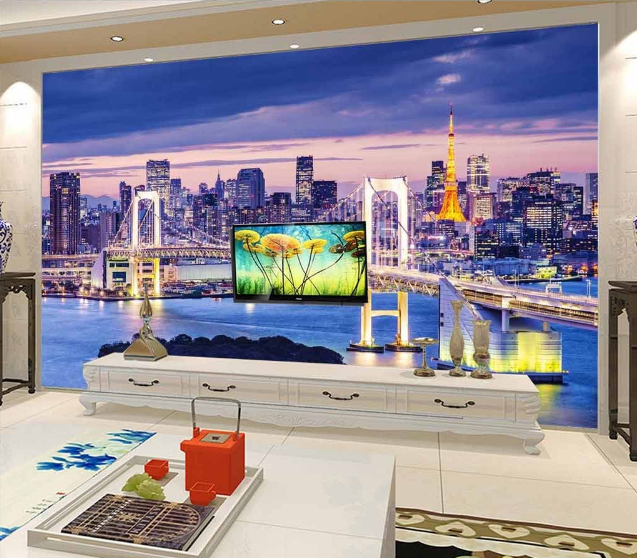 3D London Bridge 888 Wall Paper Murals Wall Print Wall Wallpaper Mural AU Kyra
