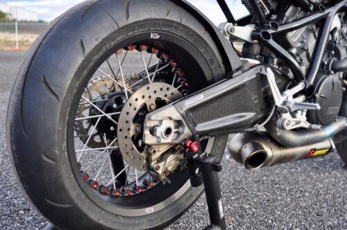 KTM RC8 2008-2016 Carbon Fiber Swingarm Covers Panels Protectors Guards