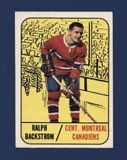 1967-68 O-Pee-Chee #67 RALPH BACKSTROM (EX/EX+) Montreal Canadiens !!