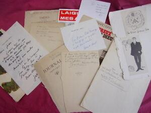 2-lot-autographes-amp-couvertures-livres-auteurs-XIXe-Ex-libris-Francis-Eon