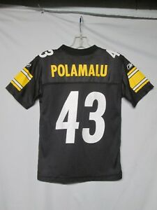 4e8415c9 Details about NFL Pittsburgh Steelers Troy Polamalu Reebok Youth Jersey  size Small