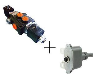 Hydraulic bank motor 1 spool valves 50l min electric 12v for Hydraulic motor control valve